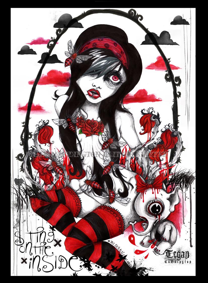 Alice Cest Perdu Dan Le Rouge Du Noir Et Blanc Tite